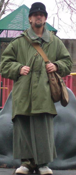 "Gabriel Brown. Despite his attire, this is the guy who wrote a piece calling antifascists ""clowns."""