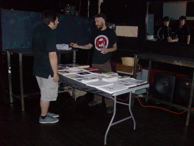 Craig Fitzgerald tableing at the July 5 show.