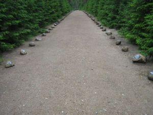 The original Heaven Street. Sobibor Concentration Camp, Poland.