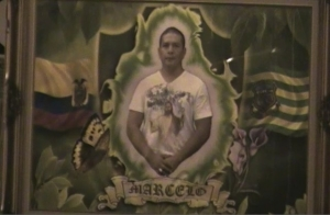 A framed image of Marcelo Lucero at a 2009 vigil in Patchogue a year after his murder.